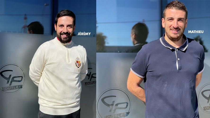 Jérémy vendeur Expert Golf et Mathieu Responsable du magasin Golf Plus Outlet Bordeaux