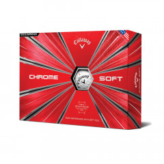 CALLAWAY - BALLES DE GOLF CHROME SOFT  BLANC