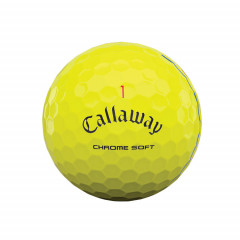 CALLAWAY - BALLES DE GOLF CHROME SOFT TRIPLE TRACK JAUNE 2