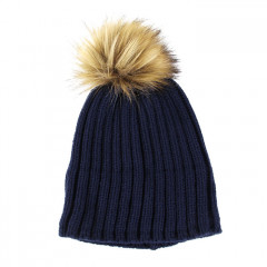 GRE bonnet pompon marron 1