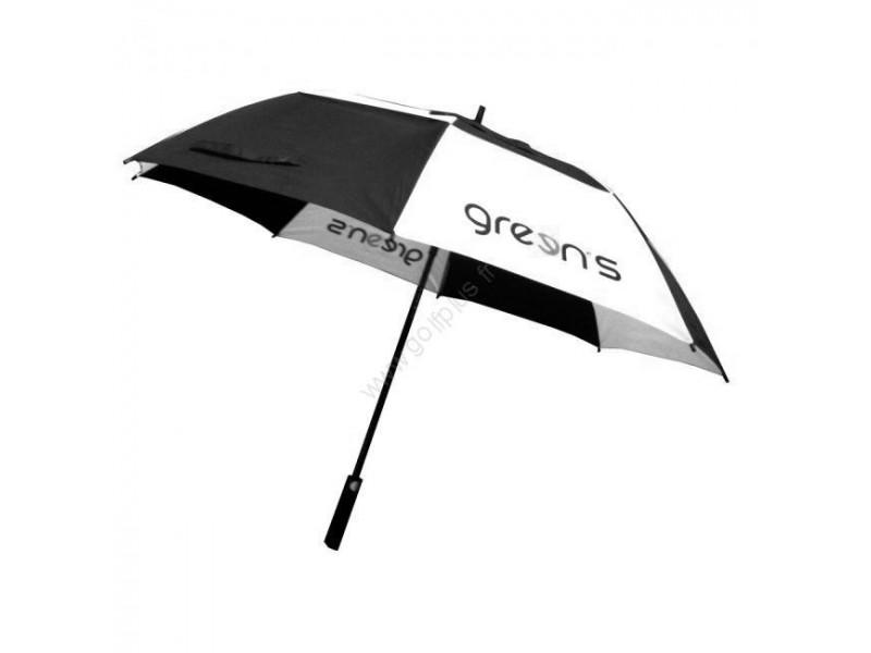 regimiento Oso débiles  GREENS - PARAPLUIE NOIR BLANC - Achat/Vente d'un parapluie noir blanc  Green's - Golf Plus