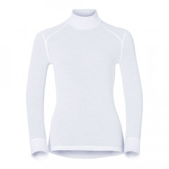 ODLO - SOUS PULL FEMME WARN COL ROULE BLANC