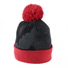 UNDER ARMOUR - BONNET JUNIOR POMPOM NOIR