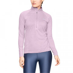 UNDER ARMOUR - SOUS PULL FEMME 1/2 ZIP TECH  ROSE