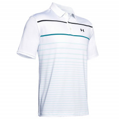 UNDER ARMOUR - POLO PLAYOFF 2.0 RAYE BLANC - 1