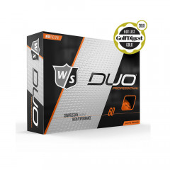 WILSON - BALLES DE GOLF DUO PROFESSIONAL ORANGE