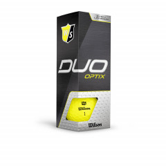WILSON - BALLES DE GOLF DUO OPTIX JAUNE 6