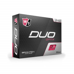 WILSON - BALLES DE GOLF DUO OPTIX ROSE