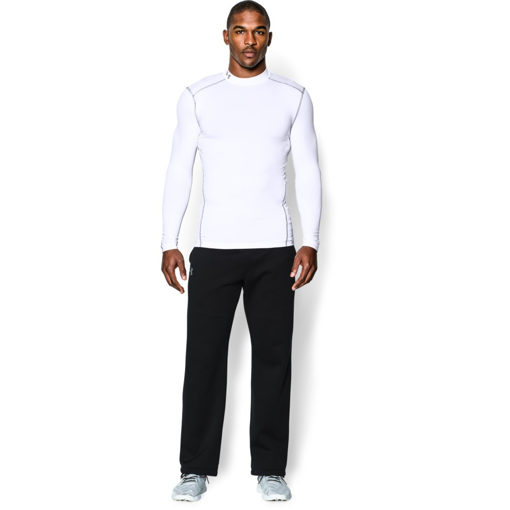 UNDER ARMOUR - SOUS PULL COMPRESSION BLANC